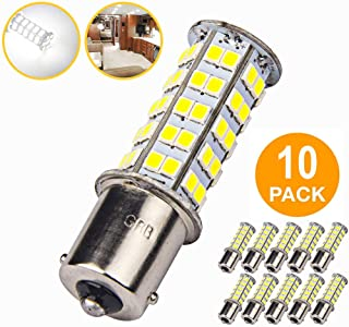 10 Pcs Extremely Super Bright 1156 1141 1003 BA15S 68-SMD LED Replacement Light Bulbs for RV Indoor Lights(10-Pack, Pure White (6000K-6500K Color Temputure))