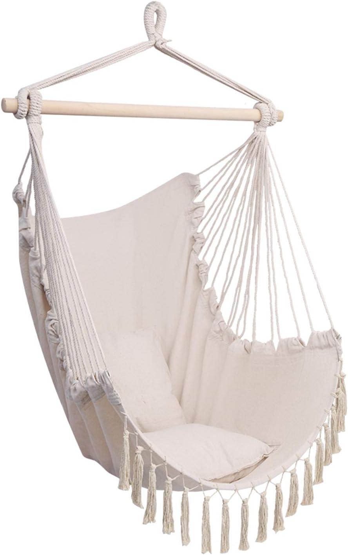 Ranking TOP17 KIFEDSLJ Max 51% OFF Pillow Tassel Hanging Rope Hammock Chair