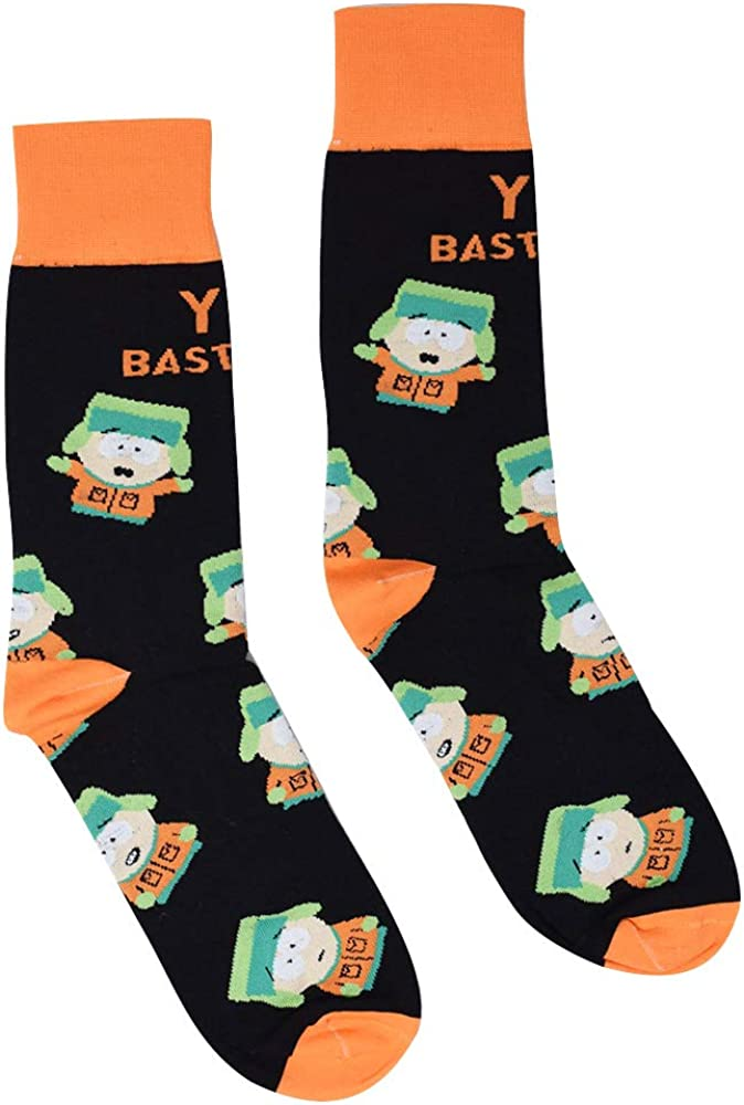 South Park Kyle Broflovski You Bastards Officially Licensed Unisex Crew Socks - One Size Fits Most