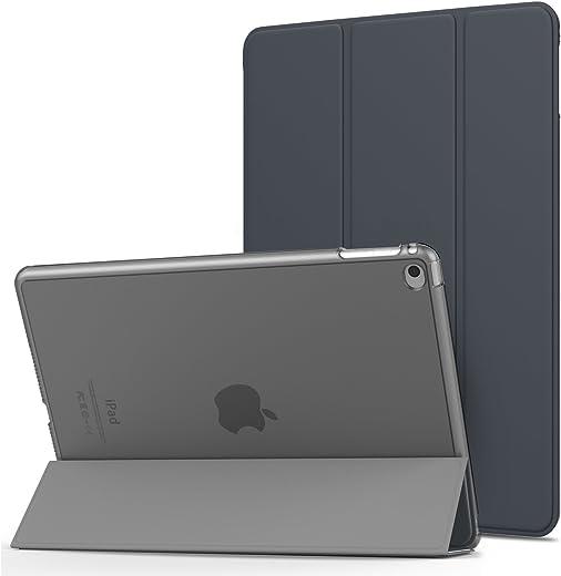 حافظة MoKo iPad Air 2 - غطاء نحيف خفيف الوزن مع واقي خلفي شفاف شفاف لجهاز Apple iPad Air 2 9.7 بوصة، ذهبي وردي (مع خاصية التنبيه/السكون التلقائي، غير مناسب لجهاز iPad Air)