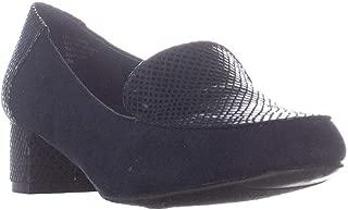 Karen Scott Womens Flura Leather Almond Toe Loafers US