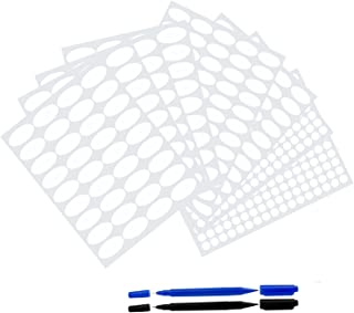 Essential Oil Bottle Labels 8 Sheets 696pcs Oval And Round Waterproof Oil-Proof Stickers Plus Bonus 2 Marker Pens from Leoter