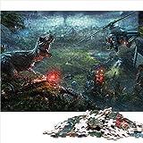 Puzzle de 1000 piezas para adultos y adolescentes Jurassic World-Evolution Juegos de rompecabezas de temas game Rompecabezas Juegos familiares a gran escala,regalos para familiares y amigos. 52x38cm