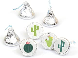 Big Dot of Happiness Prickly Cactus Party - Fiesta Party Round Candy Sticker Favors - Labels Fit Hershey's Kisses (1 Sheet of 108)
