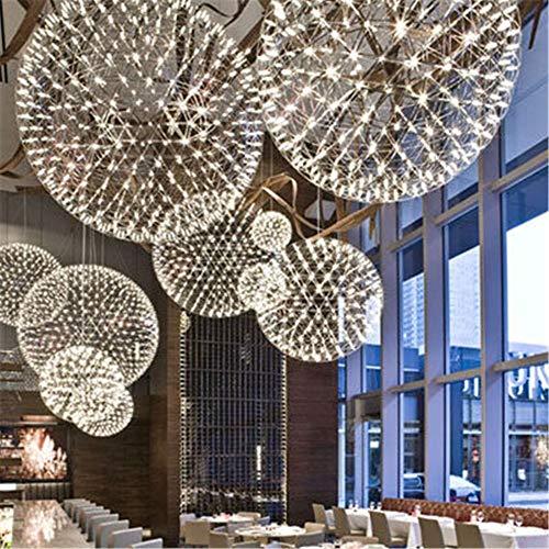 5151BuyWorld lamp gemaakt roestvrij staal hand staal hanglamp creatieve cirkel Moooi Raimond LED vuurwerk lamp bal restaurant D20 / D30 / D40 / 50/60 cm topkwaliteit