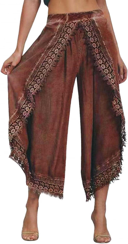 Zldhxyf Pantalones de pierna anchos, suaves, de primavera y otoño