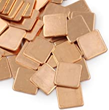 100pcs 15mm x 15mm x (0.1mm~2.0mm) Copper Shim Heatsink Pad for Laptop Notebook GPU VGA Graphics Card Chipset (15x15x0.1mm)