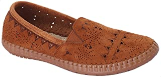 Grinta Elastic Side Panel Perforated Nubuck Shoes for Women