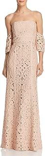 BCBG Max Azria Womens Evengelina Off-The-Shoulder Full-Length Evening Dress