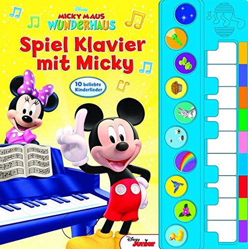Spiel Klavier mit Micky - Disney Junior Liederbuch mit Klaviertastatur - Vor- und Nachspielfunktion