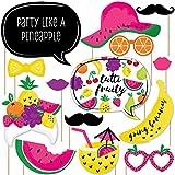 Big Dot of Happiness Tutti Fruity – Kit de accesorios para cabina de fotos de verano Frutti – 20 unidades