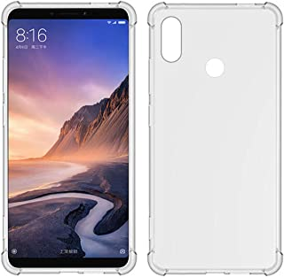 TIYA MI Max 3 ケース クリア Xiaomi Max3 柔らかい TPU 薄型 いエアバッグ 透明