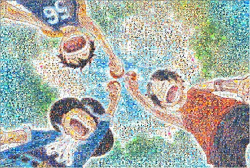 YUBAIBA Puzzle di Legno, Mosaico One Piece Puzzle, Padre-Figlio Giocattoli, Disegno di Riferimento, Divertimento educativo decompressione Toy, 1000 Parti, Regalo di Giorno dei Bambini