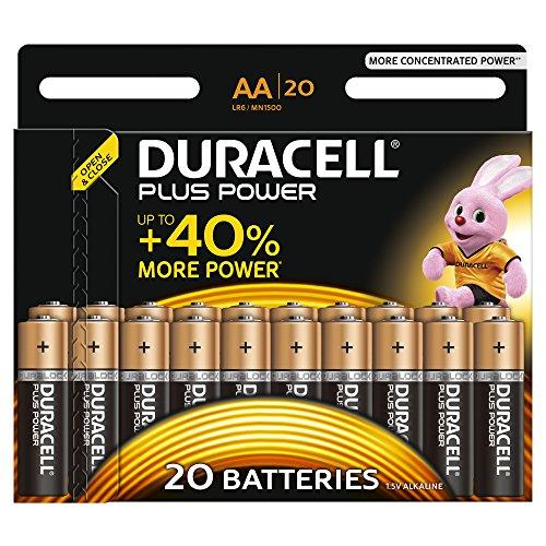 Duracell - Pile Alcaline Plus Power - AA - 20 Piles