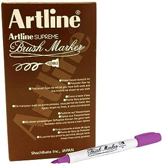 ,Artline FPE-F Supreme Brush Marker, Magenta Colour, PACK OF 12