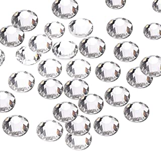 144pcs/lot SS40(8mm) Clear Crystal Flat Back Brilliant Round Rhinestones Glass Stones Glitter Gems (SS40, Clear)