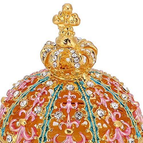 Joyero de Corona esmaltado, artesanía esmaltada Fuerte y Elegante para Regalar a Familiares y Amigos para Guardar Colgantes de Perlas, Cuentas