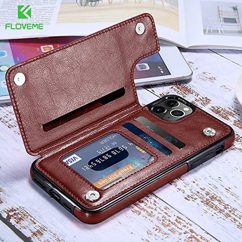 FUNCASE Einfach PU Brieftasche Leder Hülle mit Ständer Funktion für Iphone 11/11 Pro/11 Pro Max/X/XS/XR/XS Max/6/6s/6 Plus/6s Plus/7/8/7 Plus/8 Plus