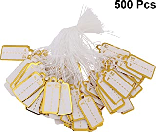 TOYANDONA 500pcs Price Tags Merchandise Marking Tags Rectangle Clothing Display Tags Gift Tags Jewelry Label Craft Hang Tags for Gift Cards with Hanging String