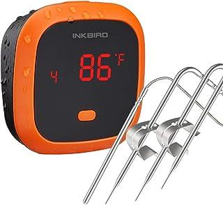 Inkbird Grillthermometer IBT-4XC mit IPX5 Wasserdicht, Grillthermometer Bluetooth..