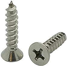 سناج مثبتات (SNG45) 200 الكمية #8 × 3/4 بوصة مسامير مسطحة 304 من الفولاذ المقاوم للصدأ برأس فيليبس