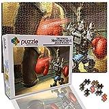 GFSJJ Puzzles 1000 Piezas Adultos 1000 Piezas Jigsaw Puzzle para Adultos Kids Infantiles Adolescentes Sensorial Juegos Educativos (29.5 X 19.7 Pulgada) Personaje del Juego Robot De Boxeo