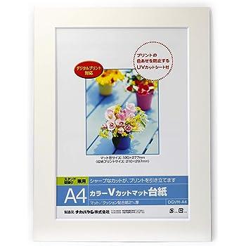 ナカバヤシ A4判 カラーVカットマット台紙 ホワイト DGVMーA4ーW