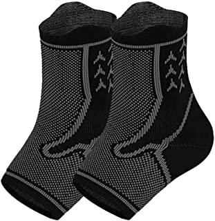 Hamkaw Plantar Fasciitis Socks with Arch Support for Men & Women,Ankle Compression Socks,Ankle Brace for Pain Relief,All Day Available