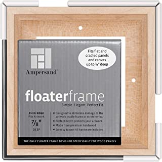 Ampersand Floaterframe for Wood Panels, 7/8 Inch Depth, Thin, 6x6 Inch, Maple (FTHIN780606M)