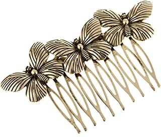 COSYOO Women Butterfly Hair Comb Vintage Elegant Alloy Hair Wire Comb Hair Side Comb Hair Accessories
