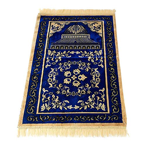 dewdropy Chenille Muslim Gebet Anbetung Teppich Retro Fußmatten Weiche Baumwolle Islamischen Gebetsteppich 70cmX110cm