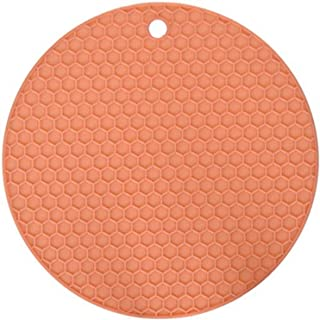 HG HGROPE Resistant Hot Pads Silicone Pot Holder Trivet Mats,Spoon Rest, Jar Opener Garlic Peeler, Pink