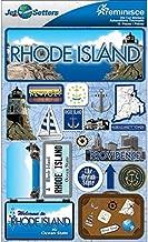Reminisce Jet Setters 2 3-Dimensional Sticker, Rhode Island