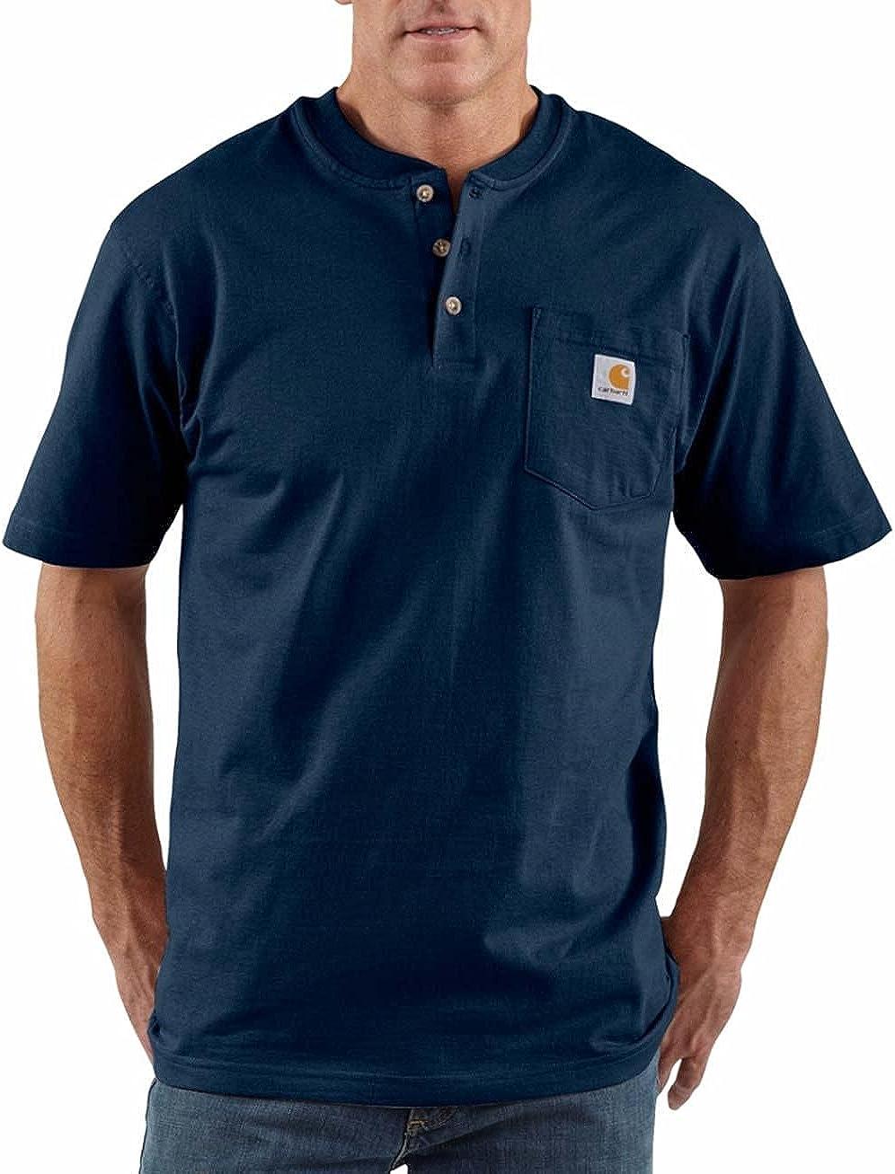 Carhartt Men's Workwear Pocket Henley Shirt (Regular and Big & Tall Sizes)