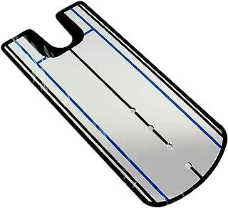 U&S パター練習用 マット 初心者 ゴルフ練習器具 ミラー付き