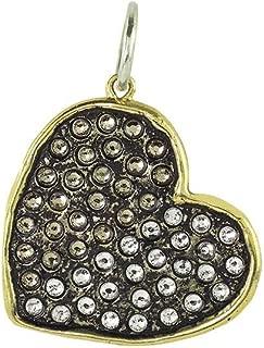 Transcendent Love Brass, Sterling Silver and Swarovski Crystals Heart Pendant