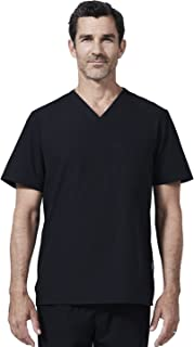 Men's Modern Fit Scrub Top by with Soft, Shrink Free, Wrinkle Resistant and Quick Drying Fabric