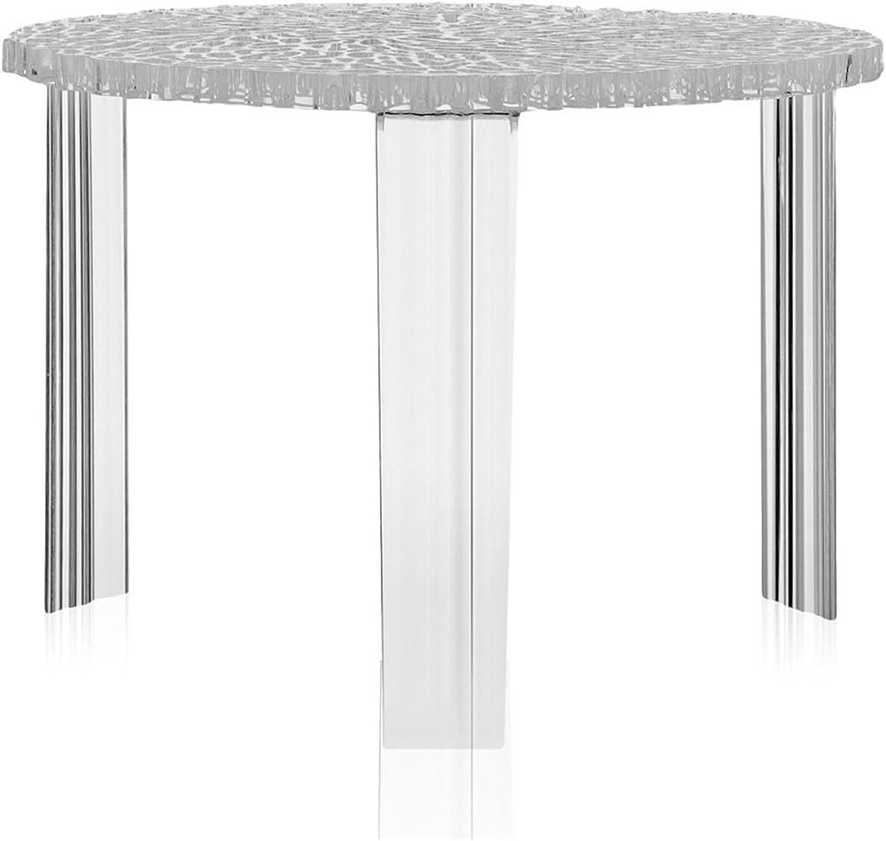 Kartell, t-table, tavolino, trasparente,in  pmma trasparente o colorato in massa 8501/B4