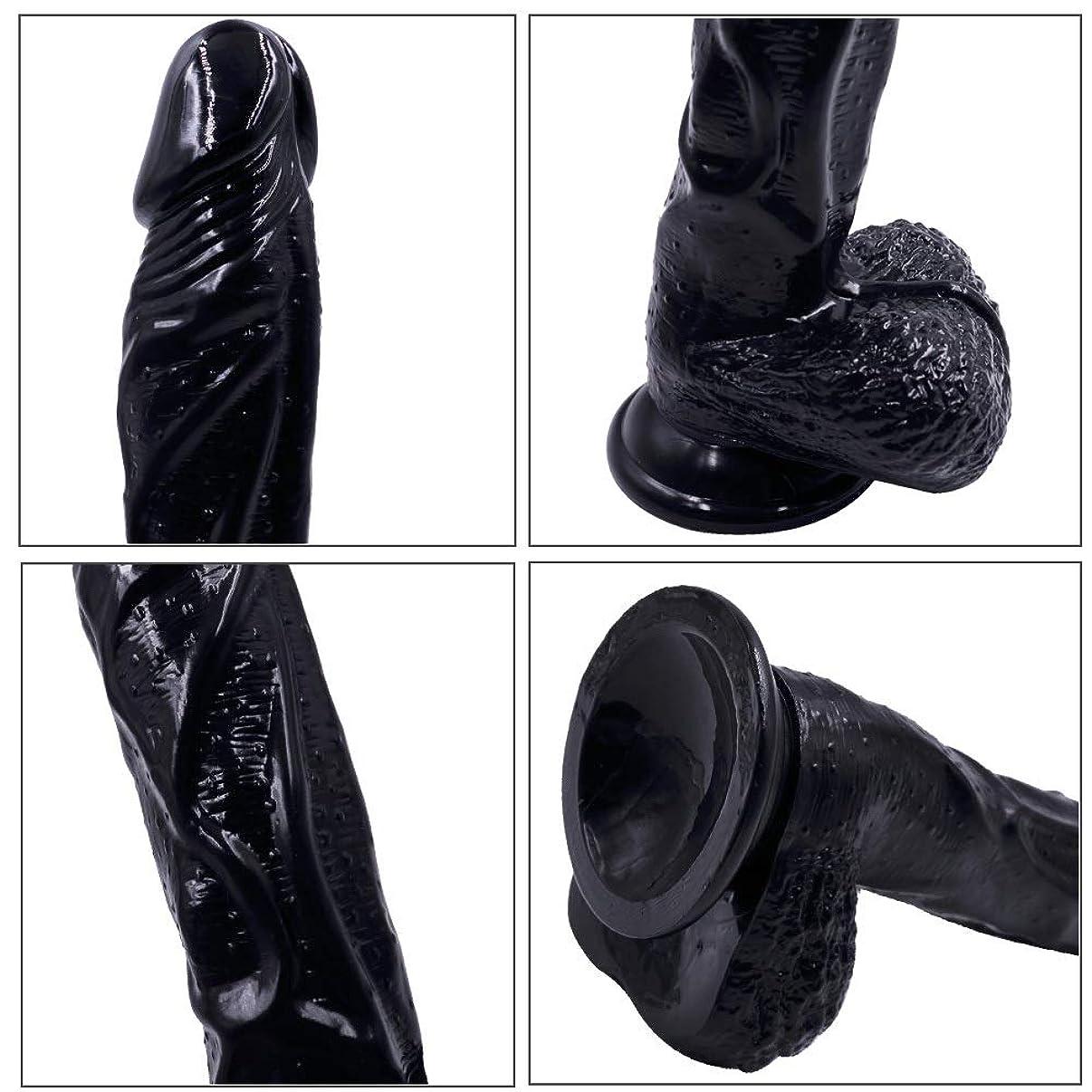 ズボン海峡流用するSUON 8.85インチPVCシミュレーション黒女性玩具防水マッサージャー、再利用可能