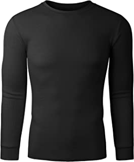 Men's Classic Midweight Long Sleeve Loose Fit Thermal Underwear Crew Top