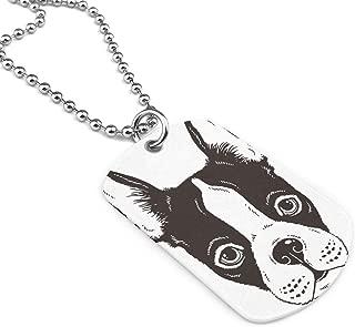 Cute Boston Terrier Face Custom Guitar Pick Pendant Necklace Keychain