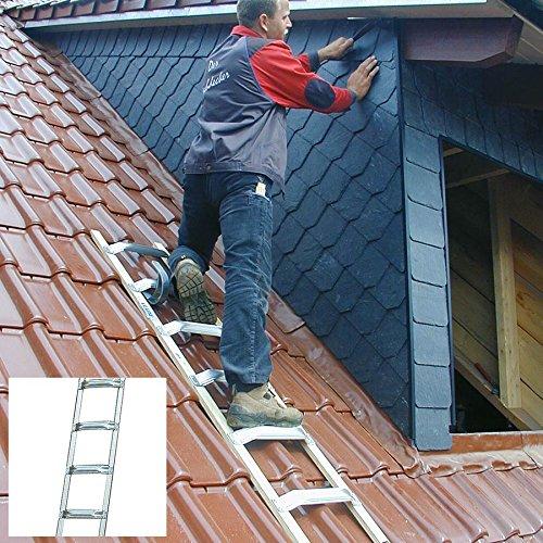 Krause 804303 Dachleiter Alu 8 Sprossen