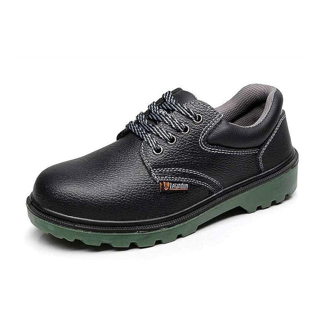 上級矛盾突破口働く 労働保険靴、衝突防止、パンク、保護靴、酸とアルカリ、安全靴、プラスチック製の固体、作業靴 アウトドア登山 (色 : Black, Size : 38-EU)