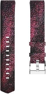 Leoboone - Correa de Repuesto para Fitbit Charge2 (Piel de Color y frecuencia cardíaca)