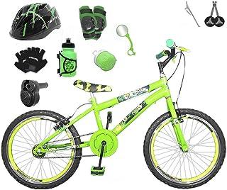 ca2c0b3e5 Bicicleta Infantil Aro 20 Verde Claro Kit E Roda Aero Verde C Capacete