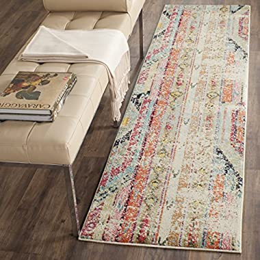 Safavieh Monaco Collection MNC222F Modern Bohemian Multi Distressed Runner Rug (2'2  x 4')