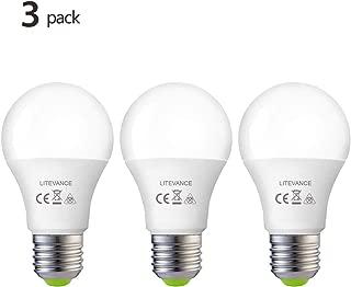 Litevance 12V-24V AC/DC 12W LED Edison Bulbs,12W 1050lumen A19 E26 Light Bulbs, Low Voltage Light Bulbs for Off Grid Solar Lighting Marine Boat RV 12V Interior Lighting for Camper (4000K Cool White)