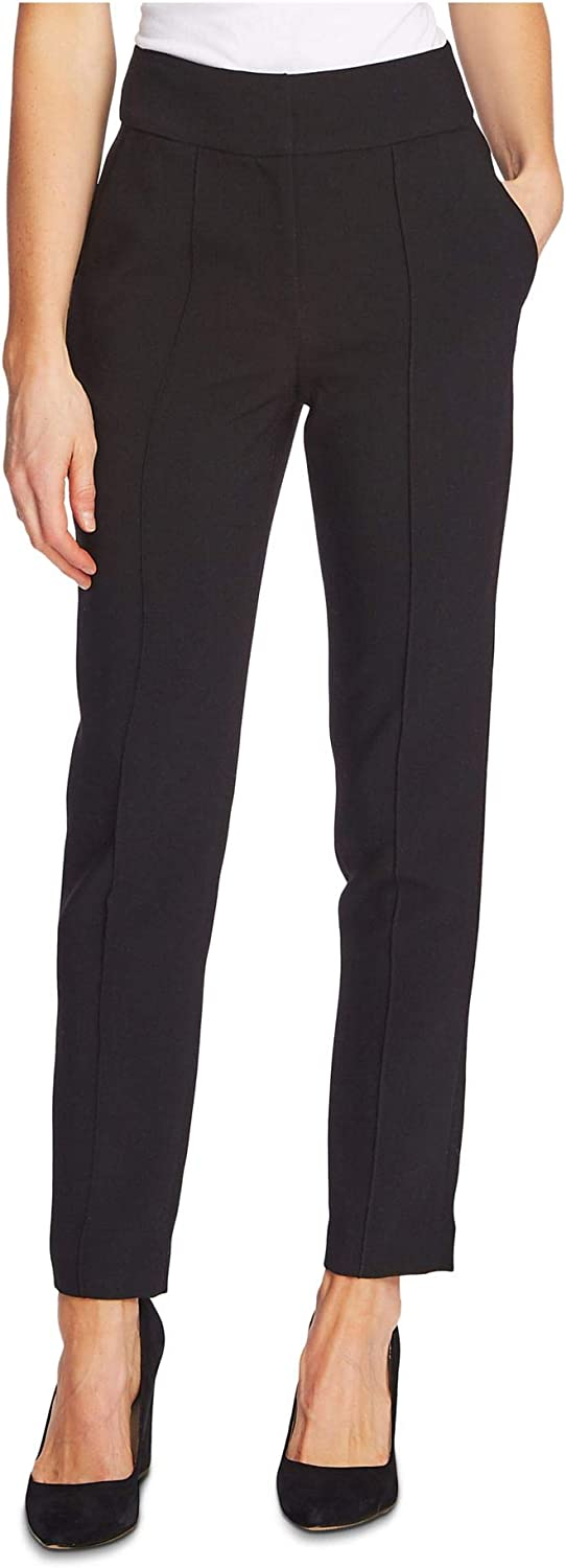Vince Camuto Womens Black Straight Leg Wear to Work Pants Size 2