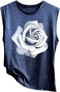 Xinantime Womens Sleeveless Sunflower Print Shirt Casual Loose Tank Top Soft Comfortable Top