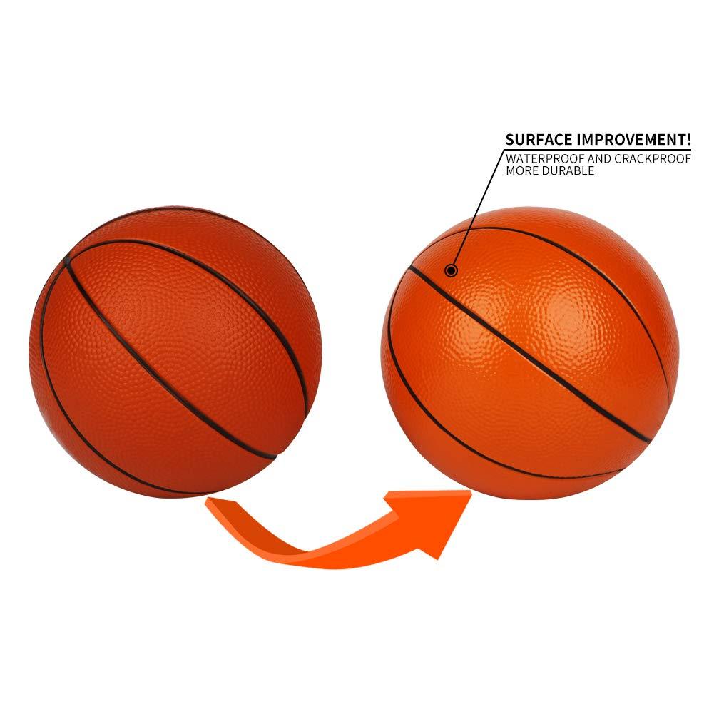 Pelota de baloncesto Dellop de 7 pulgadas de doble color, suave ...